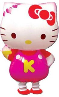 My Own Pet Hello Kitty Foil Balloons With Leash Happy Birthday Baby