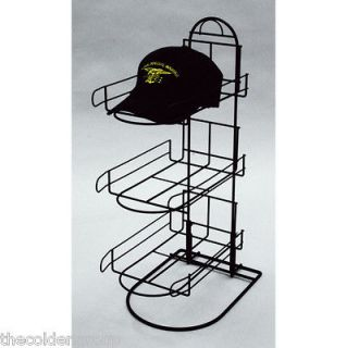 Tier Wire Baseball Cap Counter Display Rack Holds 8 10 Hats Per Pocket