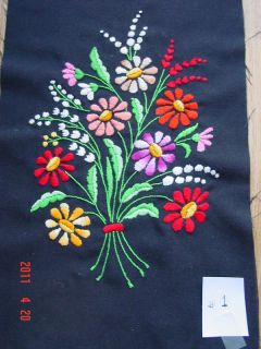HUNGARIAN 5 DIFFERENT HAND CREWEL EMBROIDERY PICTURES. SELLING ONLY