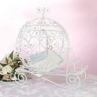 Fairy Tale White Beaded Coach Card Holder Wedding card box holder