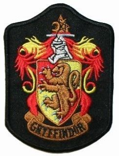Harry Potter House Gryffindor Shield Iron On Badge Applique Patch