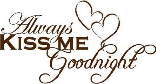 always kiss me goodnight wall decal in Decals, Stickers & Vinyl Art