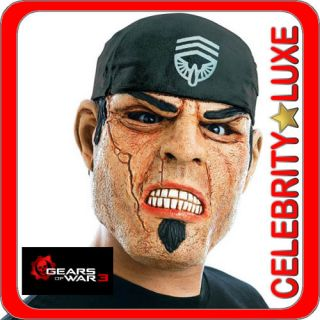 Marcus Gears of War 3 Adult Latex Full Mask Fancy Dress Up Party