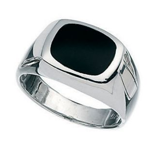 925 STERLING SILVER WITH BLACK ONYX STONE SIGNET RING BOY MEN PINKY US