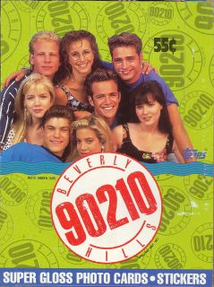 BEVERLY HILLS 90210 1991 TOPPS TRADING CARD BOX
