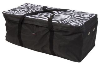 Hay Bale Bag Protector Carrier Tote Travel Waterproof Zebra Black