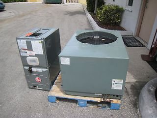 Central Air 3 Ton Rheem Condenser and Air Handler Central AC Unit R22