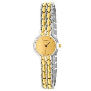 CERTINA LADIES CLASSIC WATCH 18K GOLD PLATED POLISHED GOLD DIAL C323