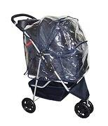 Classic Fashion Navy Blue 3 Wheels Pet Dog Cat Stroller w/RainCover