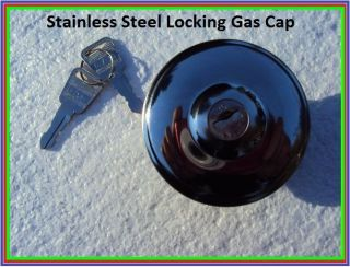 Stainless Steel Locking Gas Cap Hot Rod Rat Rod Streetrod Chevy Ford