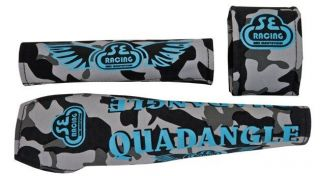 SE Urban Camo Quadangle BMX Padset w/ Blue Logos NEW!