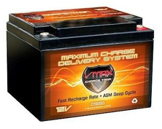 VMAX800S BOAT,TROLLING MOTOR MARINE AGM DEEP CYCLE BATTERY 12V