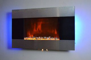 36 Wall Mounted Electric Fireplace Heater Blacklight 1500W, 5200BTUs