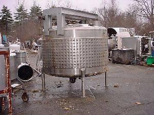 1000 Gallon Stainless Steel Jacketed Tank Feldmeier