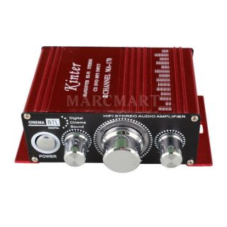 Mini Hi Fi Stereo MP3 Power Amplifier AMP 12V 2 CH AMP