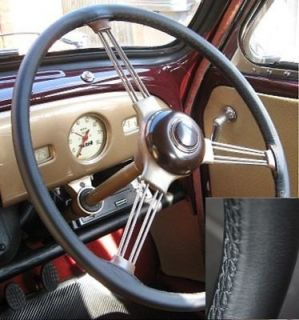 LEATHER STEERING WHEEL COVER FOR TRIUMPH TR3 1955 1962