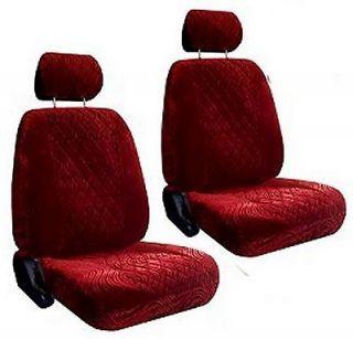 New Maroon Diamond Swirl Low Back Bucket Car Truck SUV Seat Covers #3