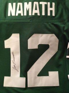 Namath 12 New York Jets Mitchell & Ness Autographed / Signed Jersey