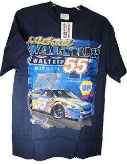 Michael Waltrip NASCAR T Shirt LARGE Blue NAPA AUTO PARTS