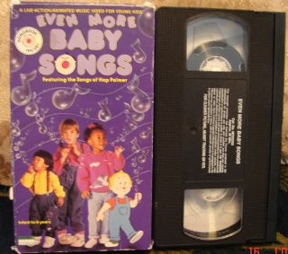 Baby Songs Video Vhs HAP PALMER RARE HTF Infant 6 Yrs Award Winning