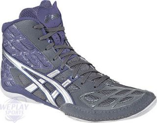 Asics Split Second 9 Mens Wrestling Shoes, Graphite/Silve​r/Royal