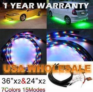 Multi Color 48 36 SLIMLINE LED CAR TRUCK UNDERBODY NEON LIGHT KIT