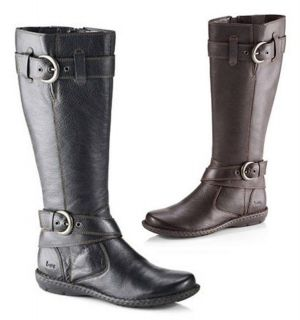 BORN b.o.c. Leather Riding Style Boots in Black or Brown