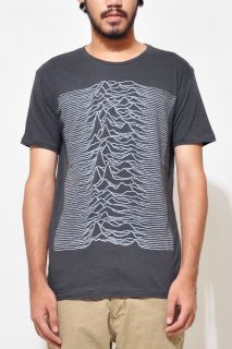 Unknown Pleasure joy division Mens Extra Slim Fit T Shirt (DARK GRAY)