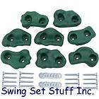 SWING SET PLAYGROUND ROCK HOLDS SMALL TEXTURED SET OF 8   FORT