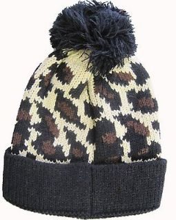 Print Knit Winter Hat Cap Baby Toddler Punk Goth Rockabilly NEW