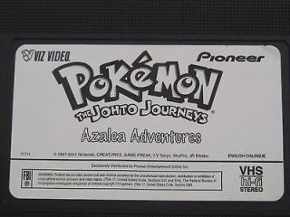 Pokemon Vol. 47 The Johto    Azalea Adventures (VHS, 2001)