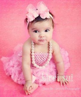 Baby Girls Light Pink Crochet Tube Top for Pettiskirt Tutu 1 3 Yrs TU6