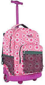 School Sunrise 18 Rolling Wheeled Backpack Pink Target RBS18 PTRGT