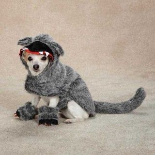 Dog BIG BAD WOLF Woof Halloween Costume Canine Pet Clothes XS, S, M