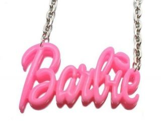 NEW PINK BARBIE NICKI MINAJ STYLE PENDANT & 18 CHAIN NECKLACE   MP586