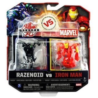 Bakugan vs. Marvel Action Figures 2 Pack   Helios vs. Iron Man brand