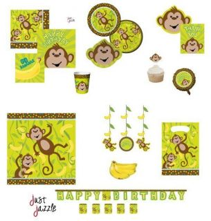 Monkey Birthday Baby Shower Party Supplies U Pick Plates Balloon