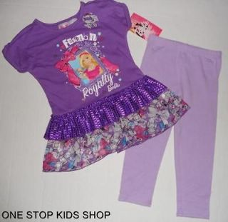 BARBIE Doll Toddler Girls 2T 3T 4T 5T Outfit TUNIC SET Shirt Top Pants