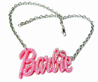 NEW NICKI MINAJ ICED OUT PINK BARBIE PENDANT& 18 CHAIN NECKLACE