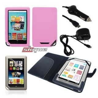 items for  nook tablet leather case chargers combo new