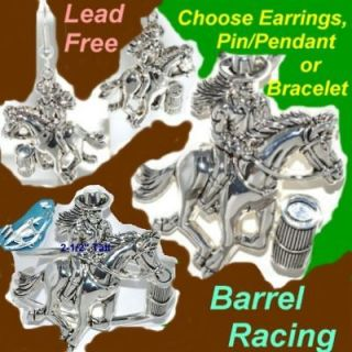 BARREL RACING Horse Cowgirl Western Rodeo Texas Jewelry