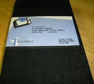CBS Records Rare VHS Promo ape Bruce Springseen Billy Joel Bangles