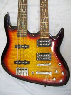 Double neck guitar and Bass Guitar, 4 and 6 string