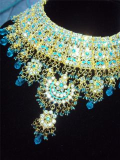 Bridal Party Indian Pakistani Necklace Earrings Matika Bangles
