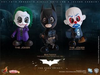 Hot Toys Cosbaby THE DARK KNIGHT Set of 3   Batman   Joker   Bank
