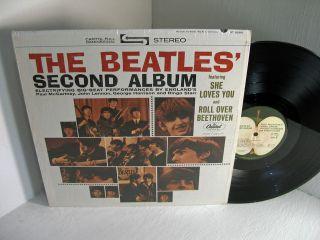 BEATLES Second Album Lp Apple ST 2080 COVER IN SHRINK Stereo EX/VG+
