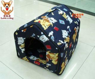 sNew Pet Dog Cat Bed House Tent Extra Soft Corduroy Print S/M/L/XL