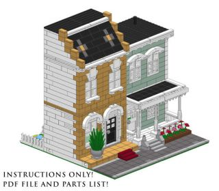 Lego Custom 2 Modular Buildings house INSTRUCTIONS ONLY