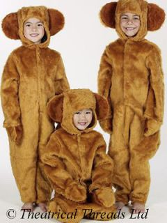 Teddy Bear Costume Brown Fur Three 3 Bears Kids Childs World Book Day