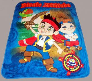 Jake Neverland Pirates blanket bedding 48x60 Disney  Izzy